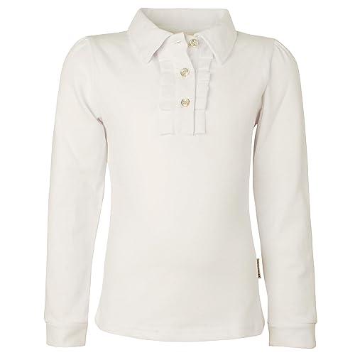 db586bddf Ipuang Girl Long Sleeve Cotton Ruffle Polo Shirt Top