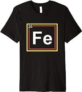Halloween Fe Iron Costume, Fe Element, Teacher Chemistry Premium T-Shirt