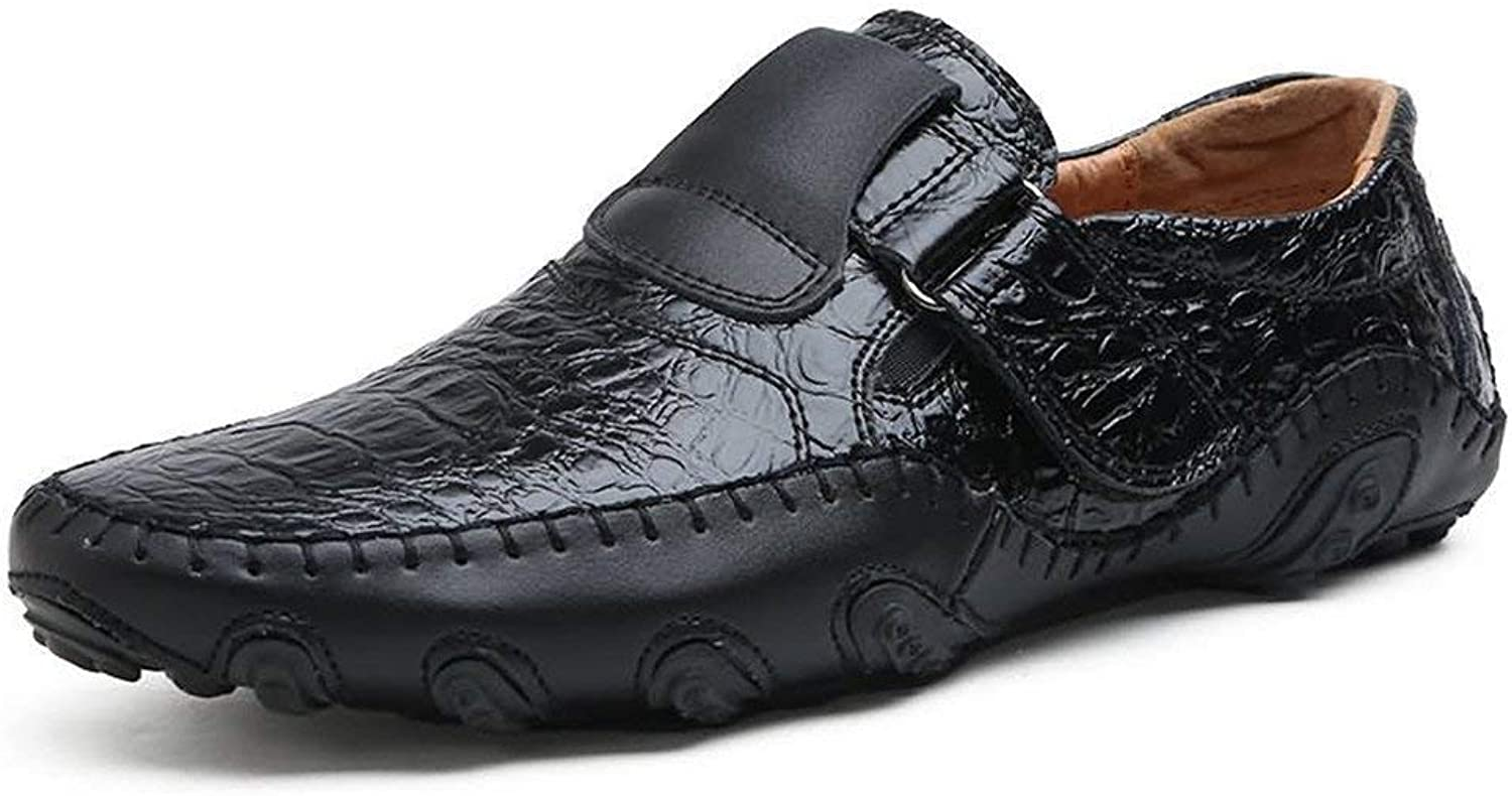 FuweiEncore 2018 Mens Moccasins shoes, Mens Comfort Attachment Loafer Flat Heel Slip-on Genuine Leather Moccasins up to size 47 (color  Black, Size  40 EU) (color   As shown, Size   One size)