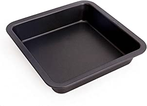 SYGA 1 Piece Square Non Stick Carbon Steel Cake Tin_Black