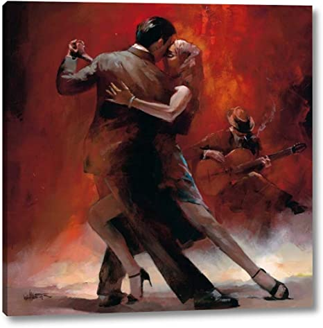 Tango Argentino Ii By Willem Haenraets 30 X 30 Canvas Art Print Gallery Wrapped Ready To Hang Posters Prints
