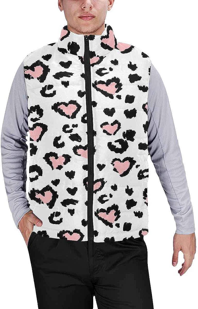 InterestPrint Men's Full-Zip Soft Warm Winter Outwear Vest Happy Thanksgiving Turkey