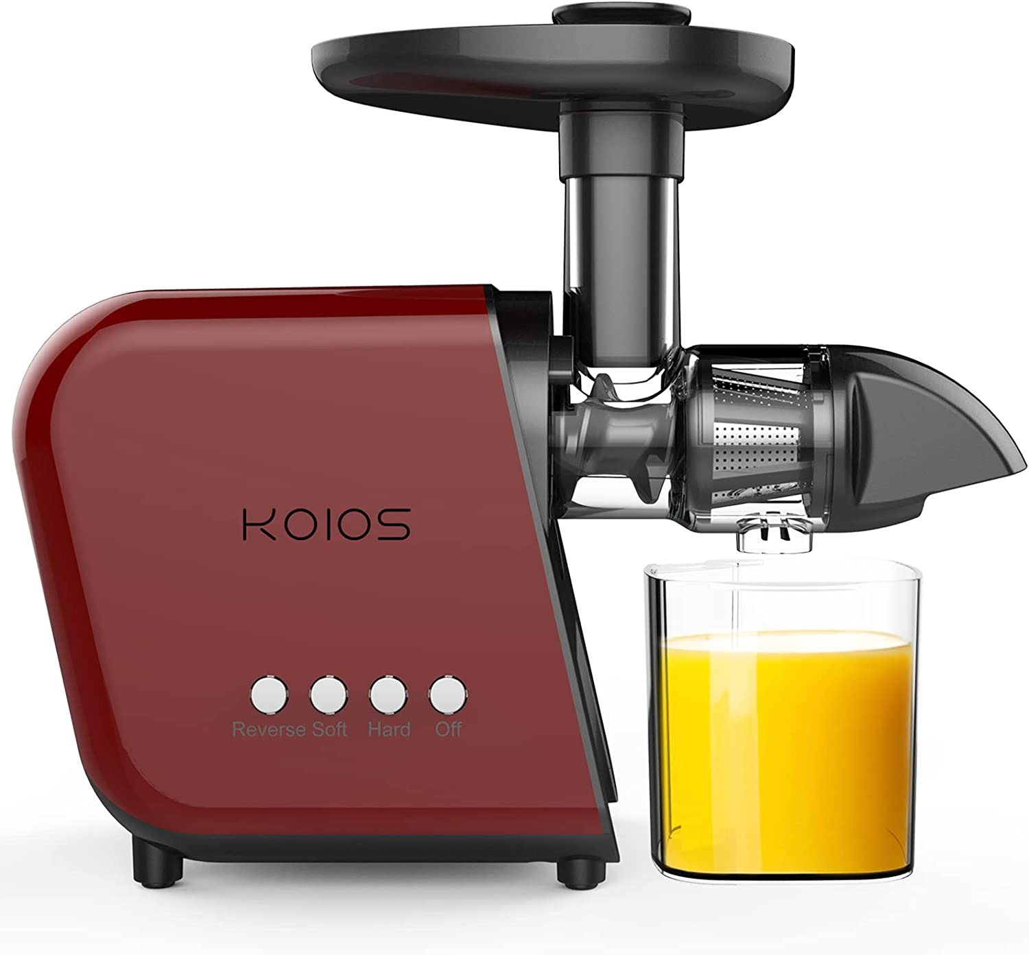 KOIOS Juicer Machine, Slow Masticating Juicer Vegetable and Fruit Easy to Clean Cold Press Juicer with Quiet Motor & Reverse Function   BPA-Free