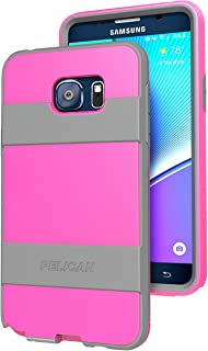 Pelican ProGear Voyager Rugged Case with Holster for Samsung Galaxy Note 5 - Retail Packaging - Pink / Gray