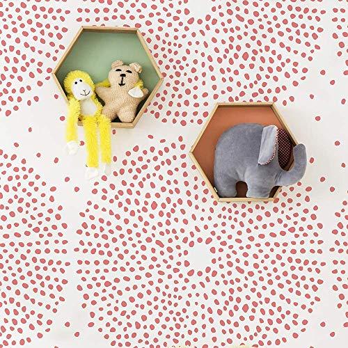 STENCILIT Kaleidoskop Wandschablone Groß Kinderzimmer- Wanddekoration Wohnzimmer - Schablone Möbel - Stencil Schablonen Wand - Wand Deko