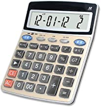 $35 » GTJXEY Calculator, 12-Digit Solar Battery Basic Calculator, Solar Battery Dual Power Office Calculator, with Large LCD Display and Large Buttons