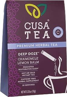 Cusa Tea: Premium Herbal Tea - Make Hot or Iced in Seconds - Functional Tea - Clean Ingredients - Sugar Free - No Preservatives - No Artificial Flavors – Deep Doze 10 Servings