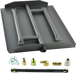 Dreffco 17 Inch Triple Gas Fireplace Burner Kit NG or LP