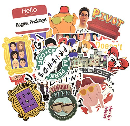 DZCYAN 34pcs/Set Friend TV Show Funny Creative Badges DIY Decorative Stickers Cartoon PC Wall Notebook Phone Home Garden Graffiti