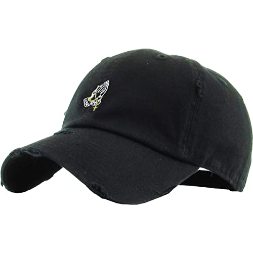 KBETHOS Praying Hands Rosary Savage Dad Hat Baseball Cap Unconstructed Polo  Style Adjustable 6f17acc95221