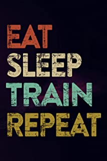 Book Review Journal - Eat Sleep Train Dogs Trainer Training Funny Gift Good: Book Review Log   Reading Journal   Book Revi...