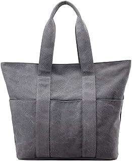 MOLLYGAN Women's Large Capacity Canvas Tote Durable Handbags Shopping Bucket Oversized Travel Bag Women Work business bags