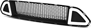 LED Daytime Running Light DRL Honeycomb Mesh Front Bumper Upper Grille for 15-17 Ford Mustang