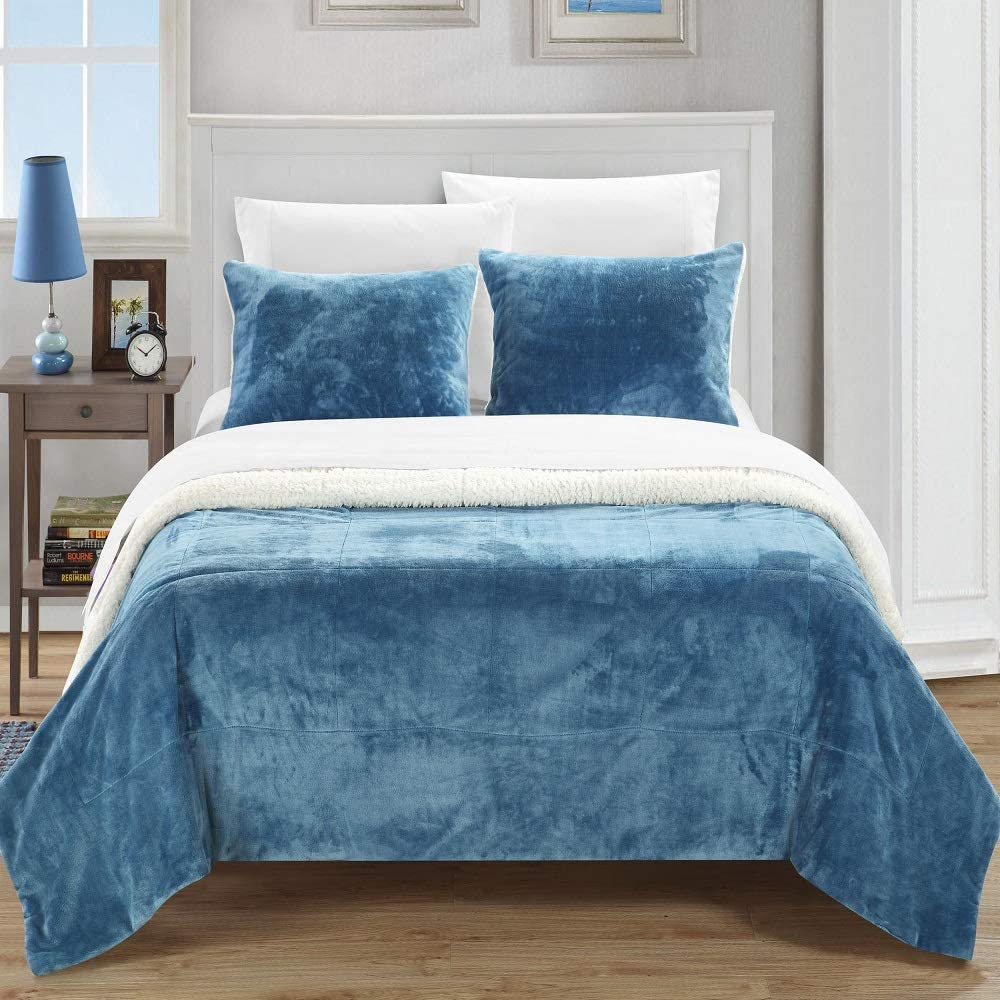 Luxurious Super Soft Sherpa Max 44% OFF Blanket for - Warm Bed Com Reservation Piece 3