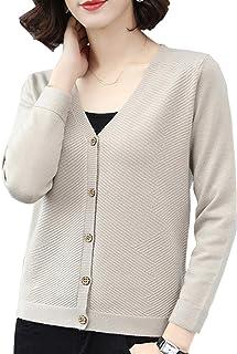 [ジョプリンアンドコー] 5カラー vネックカーディガン 素敵ボタン 模様編み シンプル 長袖 冬物 秋冬 レディース