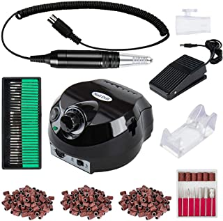 Professional 30000 RPM Electric Nail Drill Machine 110V Handpiece E File Set Powerful Manicure Grinder Filing System for Acrylic Gel Nails Polisher Kit