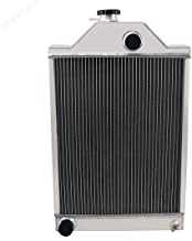 STAYCOO 3 Row Aluminum Radiator for Massey Ferguson Tractor 165 175 180 30 31 3165 194701M91 &506244M91