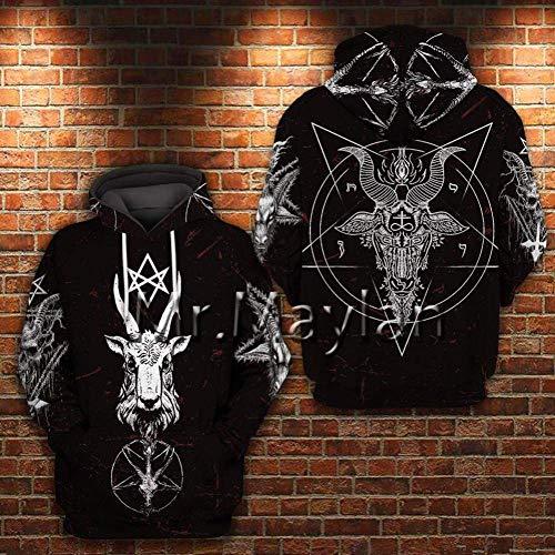 WYLD 3D Sweatshirt Pentagram 3D Print Hoodies Gothic Satan Sweatshirts Herren Hoodie Hoodie Herren Sweatshirt Hoody L.
