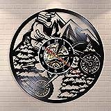 Reloj de pared para motocicleta Mountain Rider Extreme Riding Riders Racing BMX para motocross, moto Dirt bike vinilo record regalo