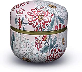RRH Mini Funeral Urn, Cremation Urns, Adults Children Pet Urn, Iron Art with Lid Creative Painted Memorial Weng Used in Funeral Or Crematorium (Color : B, Size : 8.5cm9cm)