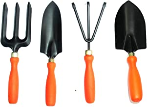 Truphe Garden Tool Set Of 4 Piece - 1 Pc Each of Small Trovel, Big Trovel, Cultivator And Fork