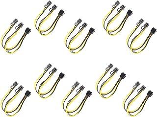 gazechimp 10 Peças 8 Pinos para 2x 8 Pinos (6 + 2) Cabo de Divisão em Y para Adaptador de Energia PCI Express