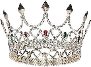 YNYA Tiare Tiara Nuziale Capelli da Sposa in Oro Diamante Tondo Corona Gioielli da Sposa Accessori Abito da Sposa Regalo