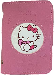 Hello kitty Leather Card Case ID/Credit Card Holder Wallet Pink Cartoon Purse Cat Soft