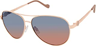 Women's J5702 Metal Aviator Sunglasses with 100% UV...