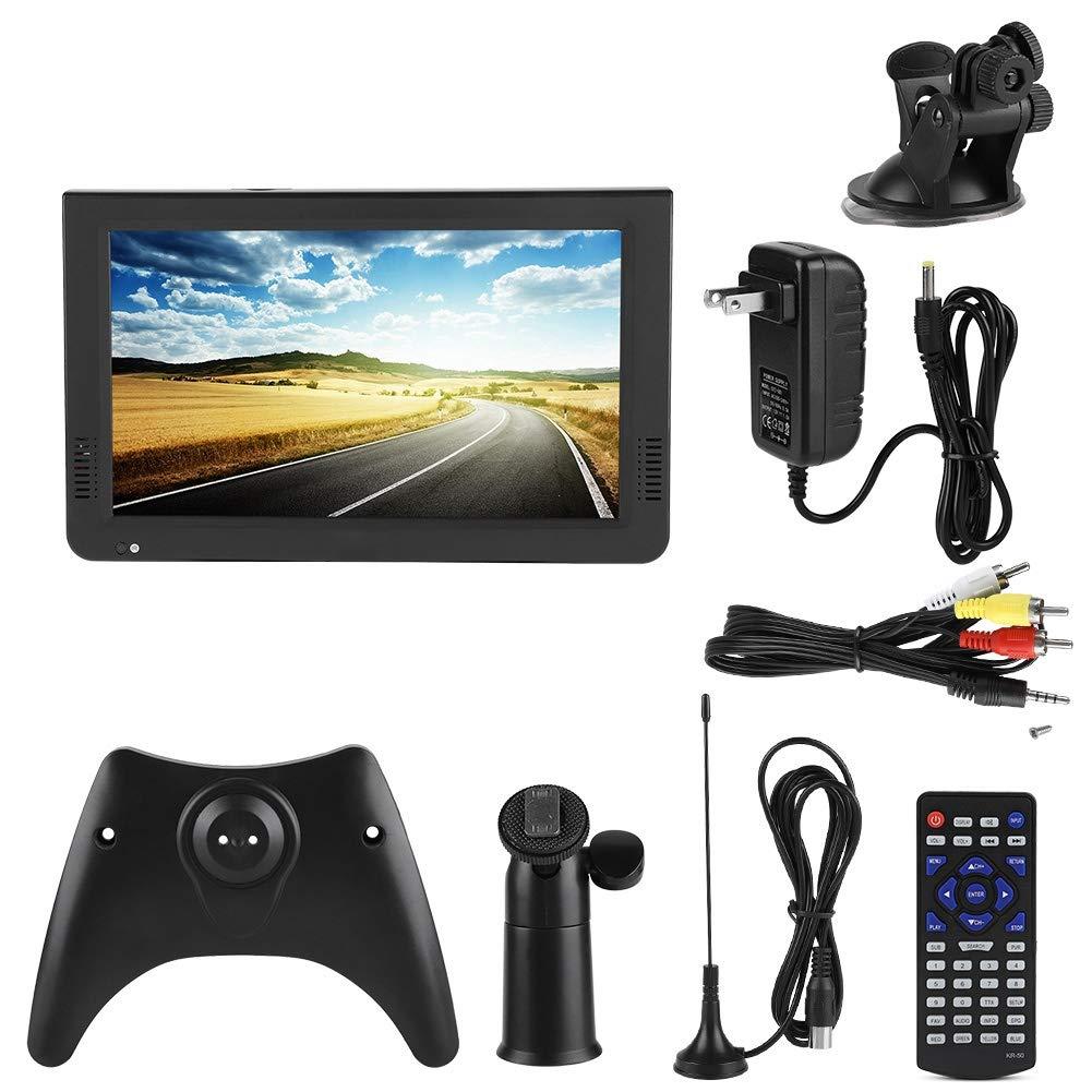 Huairdum TV Digital portátil, LEADSTAR DVB-T2 16: 9 1080P Car Digital TV estéreo Que rodea TV portátil(10