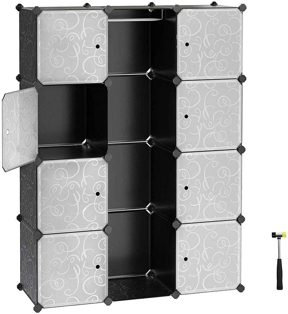 Long Beach Mall Limited time trial price MEGAFUTURE Portable Wardrobe for Hanging Combination Clothes Ar