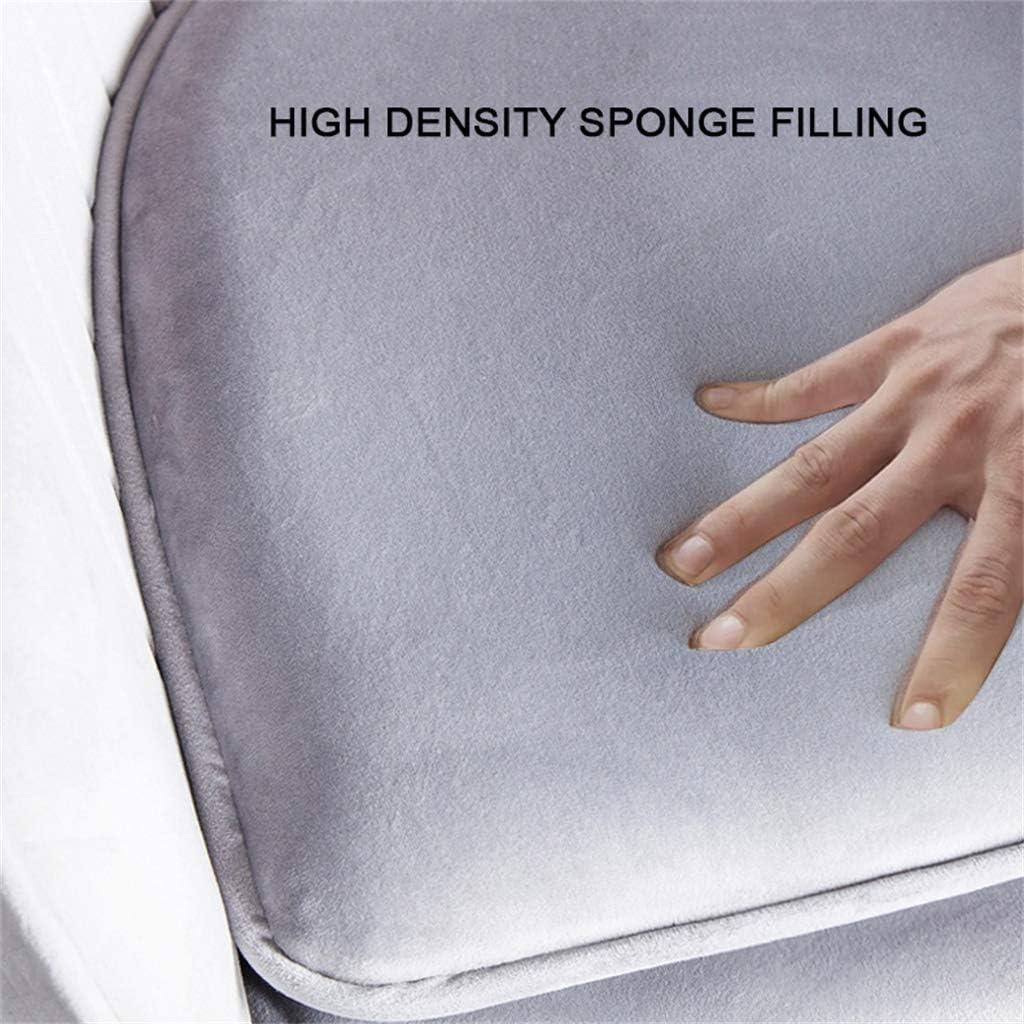 Chaise de Salle à Manger Simple avec Bras/Chaise de Maquillage en Fer forgé, Coussin en éponge Confortable, Dossier incurvé Ergonomique, Tissu en Flanelle Respirant Gray