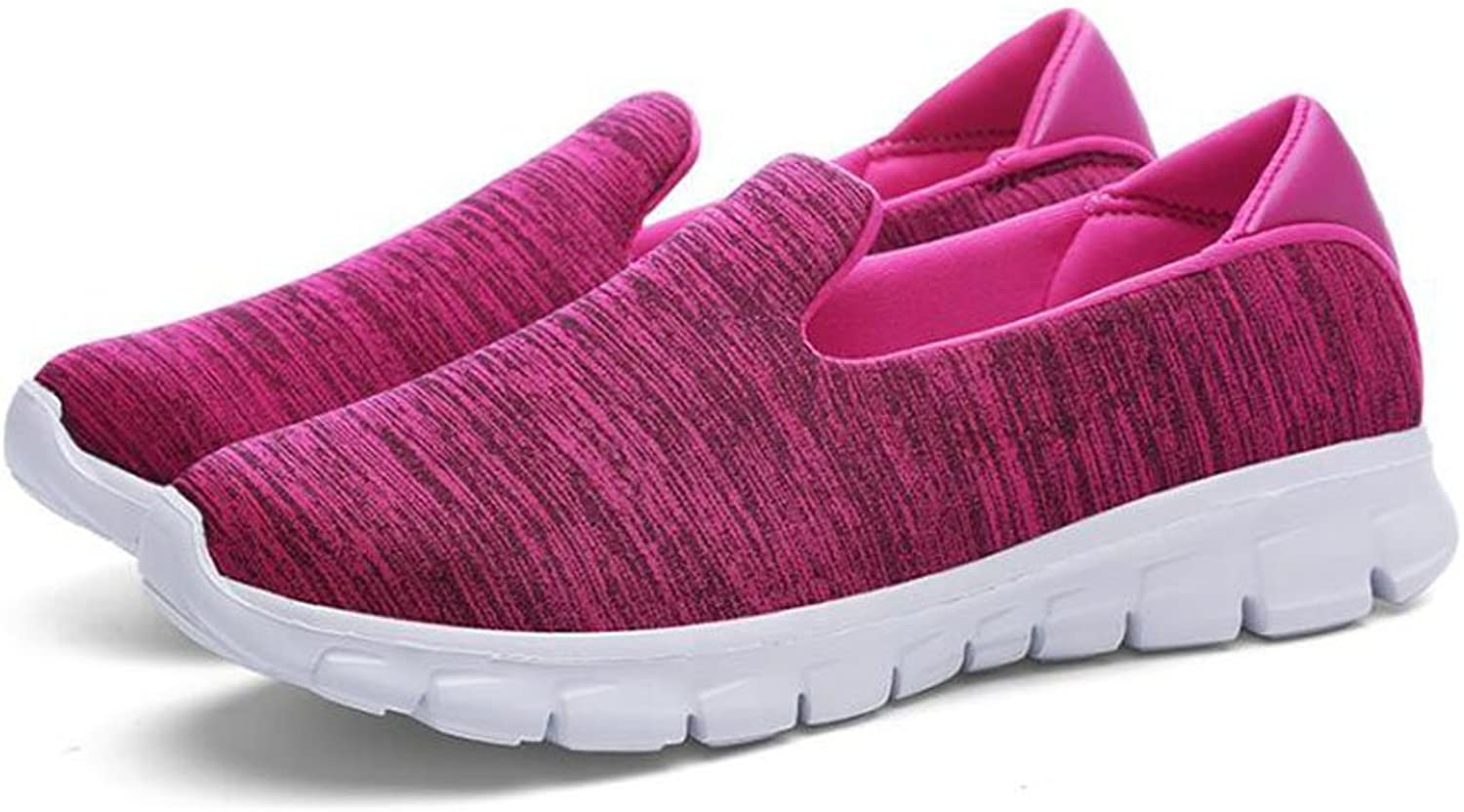 Exing Women's Sneakers Summer Walking shoes Wedge Heel for Casual Travel Pure color Breathable Sports Ladies shoes for Athletic Casual Office