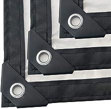 HCYTPL Dekzeil van kunststof, transparant, kunststoffolie voor traanen, opvouwbaar – 120 g/m²,2 x 5 m