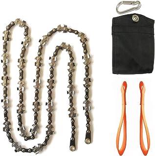 Homyall Limb Rope Saw- 48 Inch High Tree Limb Hand Chain Saw- Upgraded Chain with 50% More Blades- 62 Teeth- No Rope Inclu...
