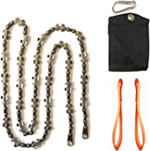 Homyall Limb Rope Saw- 48 Inch High Tree Limb Hand Chain Saw- Upgraded Chain with 50% More Blades- 62 Teeth- No Rope Included- Blades on Both Sides so it Doesn't Matter How it Lands