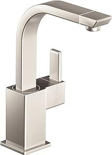 Moen S5170SRS 90-Degree One-Handle High Arc Single Mount Bar Faucet, Spot Resist Stainless