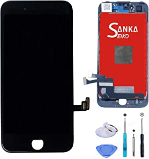 SANKA LCD Digitizer Screen Replacement Display Retina 3D Touch Screen Glass Frame Assembly for iPhone 8, 4.7 inches - Black (Free Repair Tools Included)