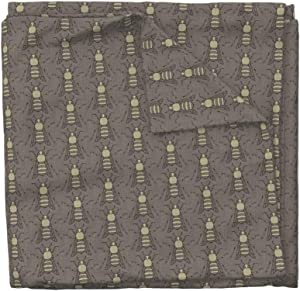 Roostery Burlap Duvet Cover Bee Bug Gray Holli Zollinger by Holli Zollinger 100% Cotton King Duvet Cover