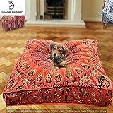 Cama de perro de tapiz de mandala indio, cojín de cojín de mandala, almohada de piso de boho, cojín de piso bohemio, asientos de boho, decoración boho, cubierta de almohada hippie