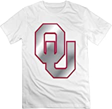 Memoy Men's Oklahoma Football Logo Sooner T-shirts Latest White