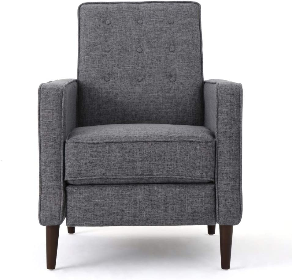 Best Traditional Chair: Christopher Knight Modern Mid-Century 16 Colors Fabric Recliner.