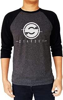 Starset Band Logo Raglan Baseball Tee 3/4 Sleeve Mens' T-Shirt