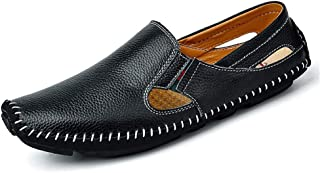 Xujw-shoes, 2018 Men Drive Loafers, Casual and Fashion Summer Hollow Breathable Leather Boat Moccasins