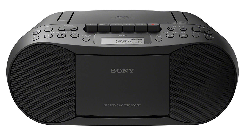 Sony CFDS70 BLK Cassette Boombox Audio