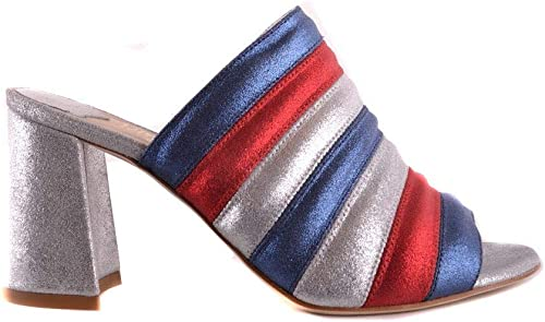 POLLY PLUME Damen HOLLYSilber Multicolour Leder Sandalen