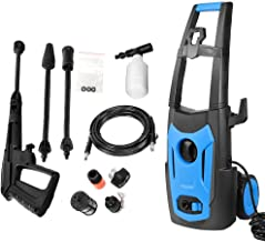 SUNGOLDPOWER 2100PSI High Electric Pressure Washer, 1.75GPM Car Power Washer with Adjustable Spray Nozzle, Extra Turbo Nozzle Detergent Tank and Hose Reel Cleaner Machine