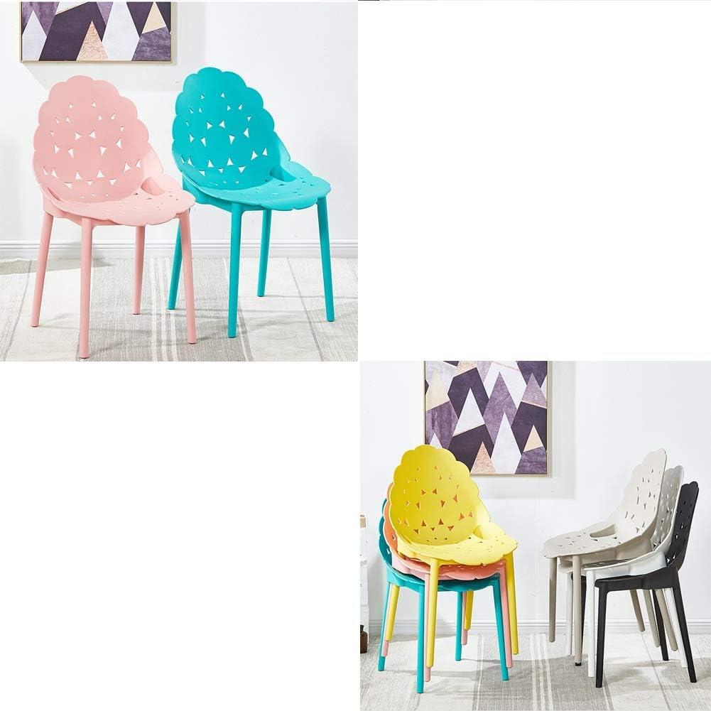 WANG Chaise de Bureau Chaise Cave Design One-Piece Design De Courbe Ergonomique Ménage Balcon Reste Lounge Chair 5 Couleurs (Color : Black) Blue