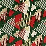 Baumwollstoff Weihnachten grafische Tannenbäume grün -