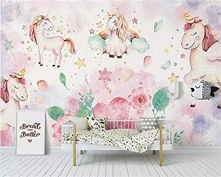 Papel Pintado,Mural,Rosa Flor Unicornio Serie Animal Personalizar 3D Papel Tapiz Decoración De Pared Art Hd Imprimir Imagen De Póster Grandes Murales De Seda Para La Habitación De Los Niños De Kin